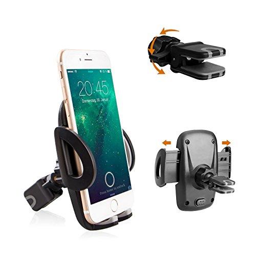 Avoalre iPhone Halter Handyhalter Auto KFZ Handyhalterung Galaxy Halter Autohalterung samsung Lüftungsschlitz Belüftung Universale Autohalterung Kompatibel mit iPhone SE 7 7 Plus 6s 6 Plus 5s 5 4s 4, GPS, Samsung Galaxy S7 S6 S5 Note5 , LG Nexus Sony HTC
