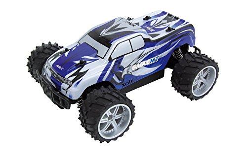 XciteRC 30507000 - Ferngesteuertes RC Auto Eagle Monster Truck M 1:16 - 2WD RTR Modellauto, blaue Karosserie