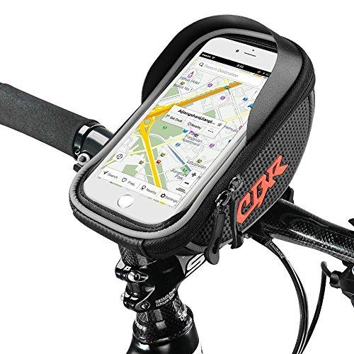 Rahmentaschen, Furado Fahrradtaschen Fahrrad Rahmentaschen für iPhone 7 Plus/6s Plus/6 Plus/Samsung s7 edge andere bis zu 6 Zoll Smartphone, Wasserabweisende Fahrrad-Rahmentasche, Fahrrad Handyhalterung, Neue verbesserte Edition, für alle Fahrradtypen gee