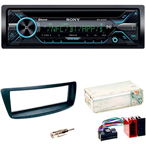 SONY MEX-N5200BT Autoradio Bluetooth USB AUX 1-DIN CD Einbauset Toyota Aygo Citroen C1 Peugeot 107