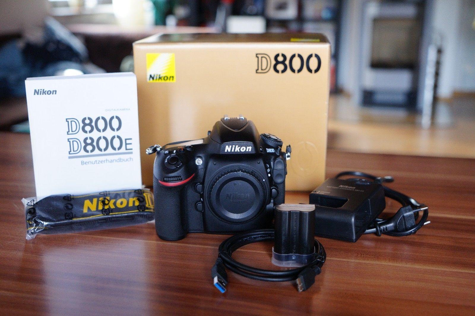 Nikon D800 in TOP Zustand und unter 14000 Auslösungen