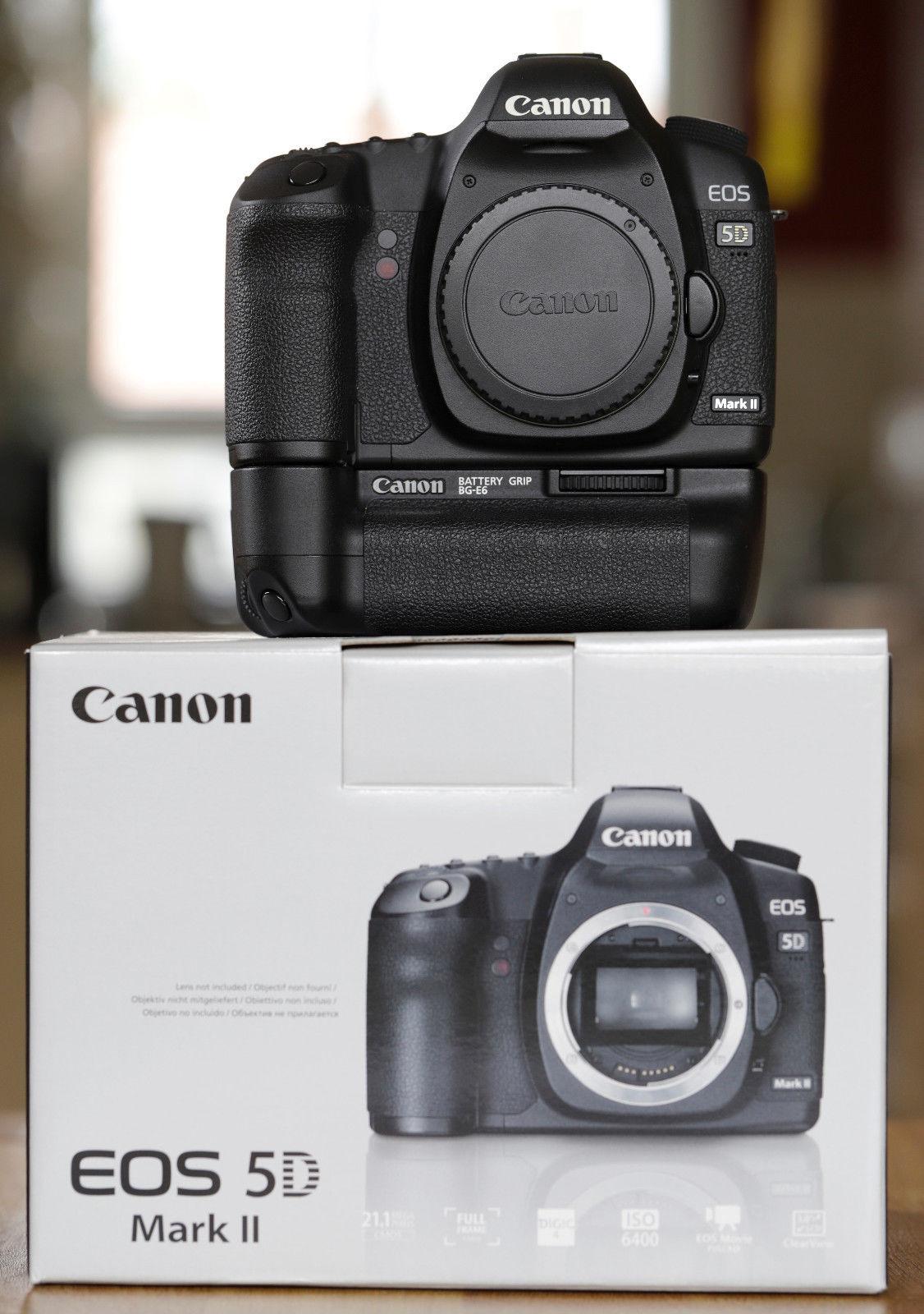 Canon EOS 5D Mark II, Top-Zustand nach Canon-Service, mit Batteriegriff, in OVP