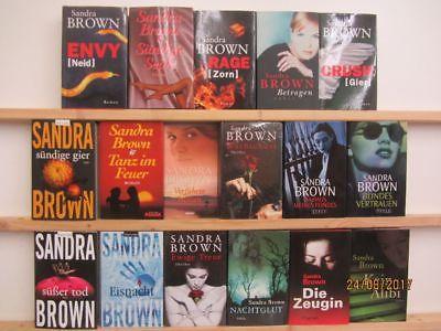 Sandra Brown 17 Bücher Romane Krimi Thriller romantische Romane Top Titel