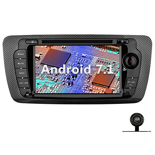 YINUO 7 Zoll 2 Din Android 7.1.1 Nougat 2GB RAM Quad Core Autoradio Moniceiver DVD GPS Navigation 1080P OEM Stecker Canbus 7 Farbe Tastenbeleuchtung für SEAT IBIZA 2009-2013 Unterstützt DAB+ Bluetooth OBD2 Wlan (Autoradio mit Kamera 1)