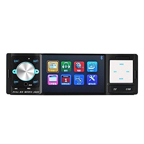 KDGWD Autoradio4,1-Zoll-Bildschirm mit Stereo-Bluetooth-Audio-Receiver HD-Receiver mit USB-Anschluss und AUX Auto MP5 SD-Kartensteckplatz Empfänger 12V / 24V-3026