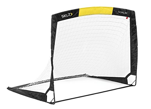 SKLZ Tor Goal-ee - Klappbares Mini Fußballtor, schwarz-gelb, 88,9 x 2,5 x 88,9 cm