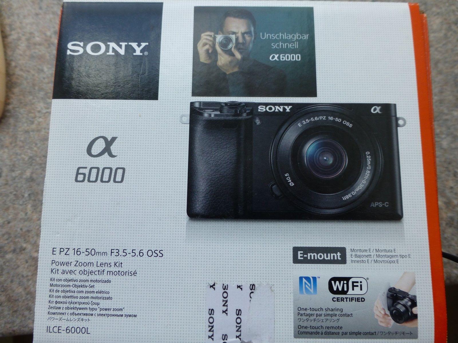 Sony Alpha 6000 Digitalkamera E PZ 16 - 50 mm gebraucht
