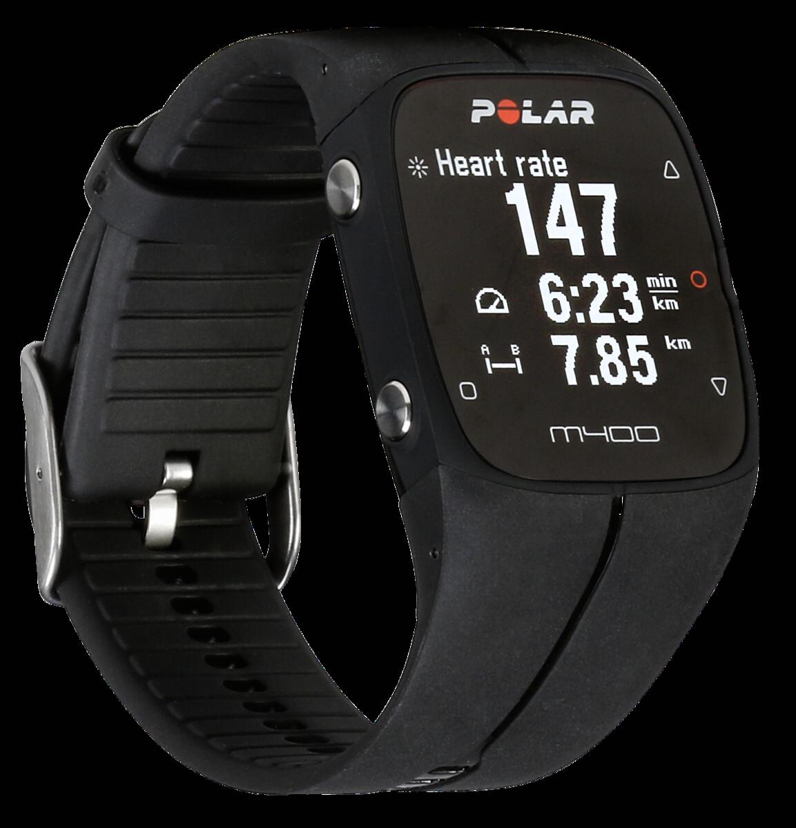 Polar M400 Bluetooth Schwarz Sportuhr Fitnesuhr Laufuhr für Sport in schwarz