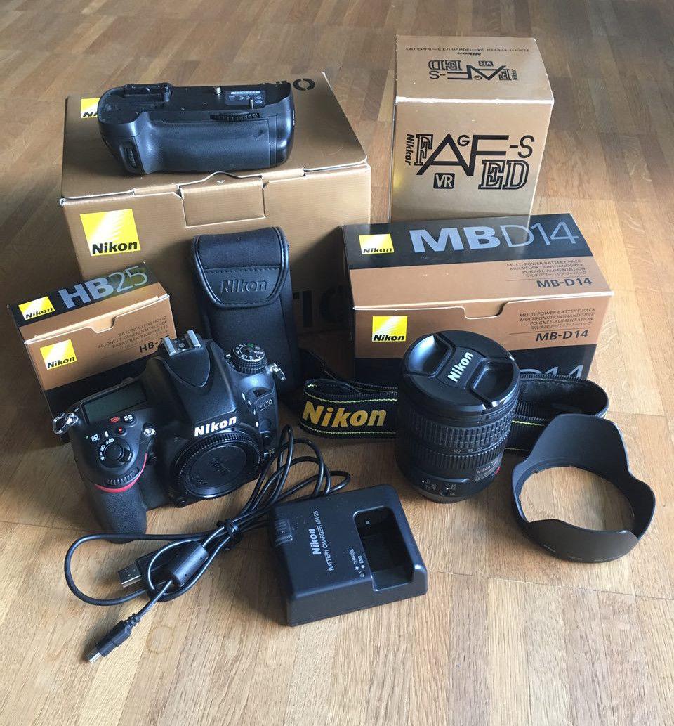 Nikon D610 24.3 MP SLR-Digitalkamera Kit - 24-120 3,5/5,6 + Batteriegriff MB-D14