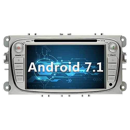 YINUO 7 Zoll 2 Din Android 7.1.1 Nougat 2GB RAM Quad Core Autoradio Moniceiver DVD GPS Navigation 1080P OEM Stecker Canbus 7 Farbe Tastenbeleuchtung für Ford Mondeo (2007-2011) Ford S-Max (2008-2011) Ford C-Max (2008-2010) Ford Focus (2007-2010) Ford Gala