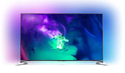 Philips 55PUS9109/12 Ultraflacher 4K Ultra HD TV 4seiten Ambilight wireless Subw