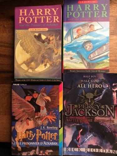 4 Fantasy Englische!! Bücher Buchpaket 3 English Books Harry Potter ??P. Jackson