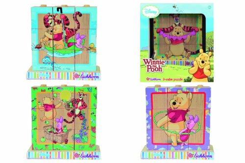 Eichhorn 100003329 - Disney Winnie the Pooh Bilderwürfel - 9 teilig mit 4 Motiven zum Stecken