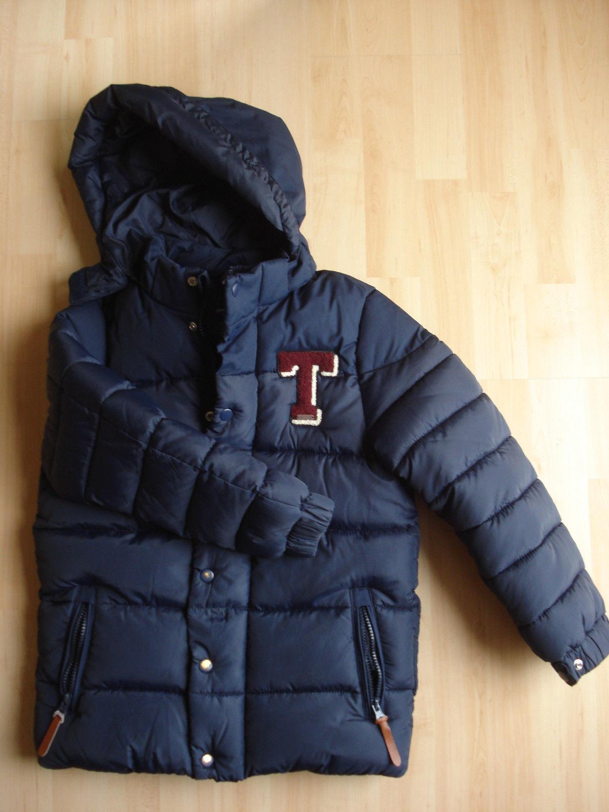 Blaue Winterjacke Jungen Gr. 140 von Tom Tailor