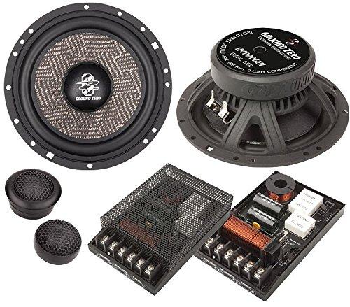 Ground Zero Hydrogen Lautsprecher Kompo System 400 Watt passend für Audi A6 Avant C5/4B 03/98>3/05 Einbauort vorne : Türen / hinten : Türen