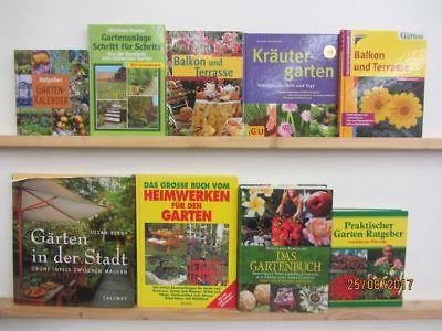 39 Bücher Garten gärtnern Gartengestaltung Gartenpflege Gartenkunstn  Paket 1
