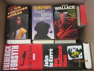 36 Bücher Romane Krimi  Kriminalromane Spionageromane Detektivromane Paket 1