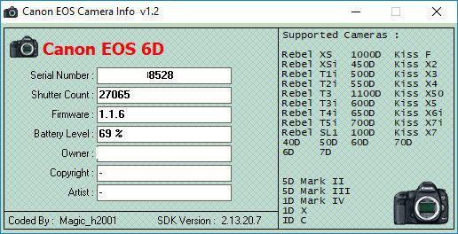Canon EOS 6D 20.,2 MP SLR-Digitalkamera - Schwarz (Nur Gehäuse)
