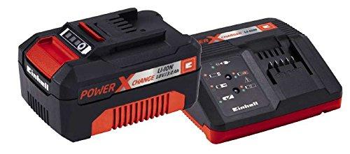 Einhell Starter Kit Akku und Ladegerät Power X-Change (Lithium Ionen, 18 V, 3,0 Ah Akku und Schnellladegerät, passend für alle Power X-Change Geräte)