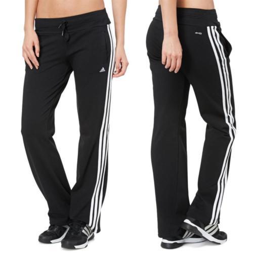 Adidas Trainingshose Ess 3S Knit Damen Hose Essentials Sporthose GYM Jogginghose