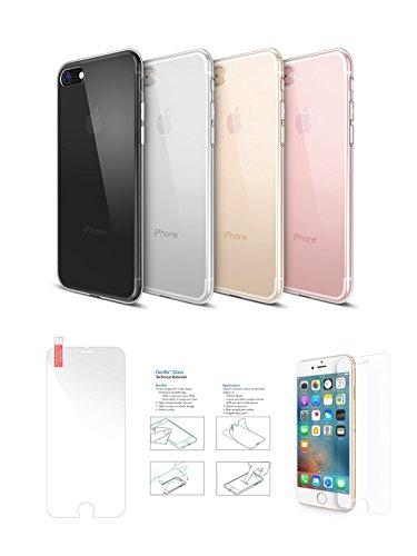 iShield 7 TPU-SILIKON Transparent-Frosted Hülle für iPhone 7 (Transparent)