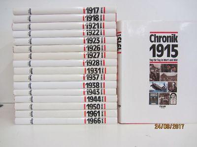 Die Chronik Tag für Tag in Wort und Bild 17 Bücher Jahreschronik Jahrbücher