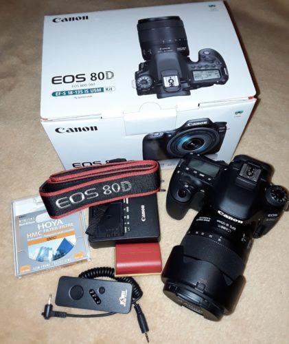 Canon EOS 80D Kit mit EF-S 18-135mm IS USM Objektiv - keine 200 Auslösungen