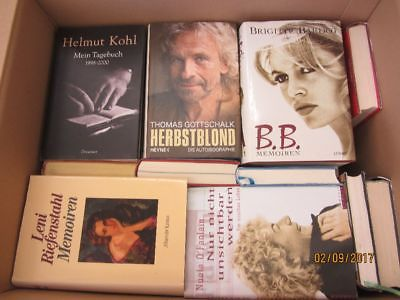 36 Bücher Biografie Biographie Memoiren Autobiografie Lebenserinnerung Paket 1