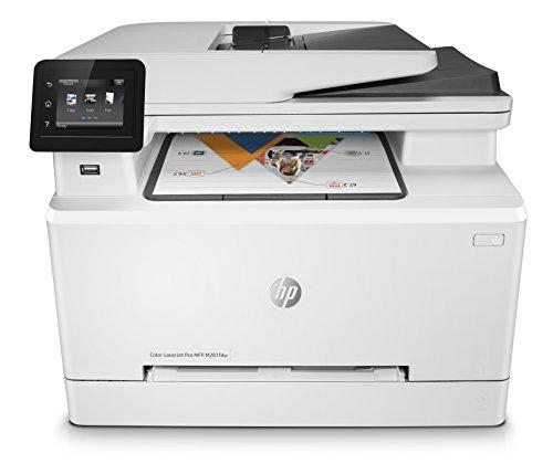 HP Color LaserJet Pro M281fdw Multifunktions-Farblaserdrucker (Drucken, scannen, kopieren, faxen, WLAN, LAN, Duplex, Airprint) weiß