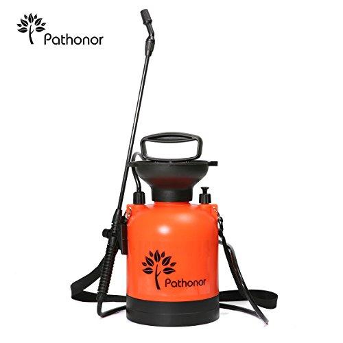 3L Drucksprüher, PATHONOR Orange Schulter Drucksprühgerät Druck Spray Flasche für Haus und Garten Gießkanne.
