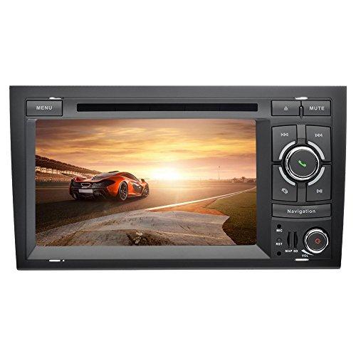 YINUO 7 Zoll 2 Din Android 5.1.1 Lollipop Quad Core Autoradio Moniceiver DVD GPS Navigation Rote Farbe Tastenbeleuchtung Unterstützung DAB / Bluetooth / Lenkrad-Steuerung / AV-IN / 1080p OEM Stecker Canbus für Audi A4 (2002-2008)