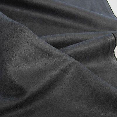dkl grau Alcantara Wild-Leder für Polster Kissen u Möbel weich robust Meterware