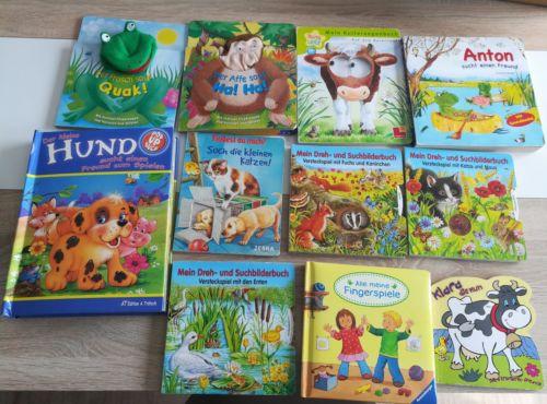 11 Babybücher, Kinderbücher, Pop up Buch, Fingerspiele, Bilderbücher