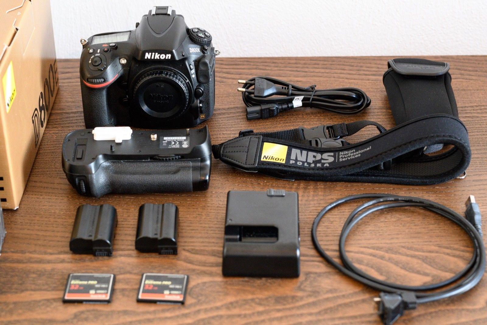 Nikon D800E 36.3 MP - 55k, extra MB-D12 grip, Zubehörpaket (Nur Gehäuse)