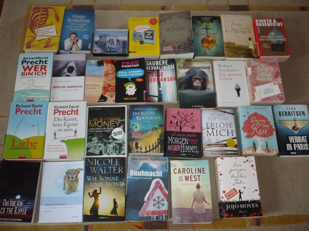 Bücherpaket 30 Stück Krimis Thriller Romane und Bestseller