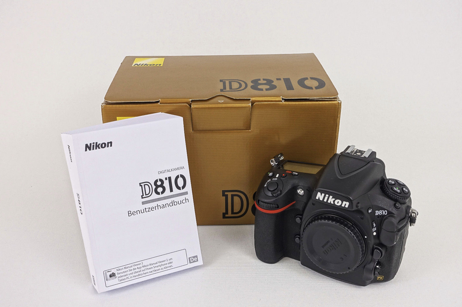 Nikon D810 OVP, TOP-Zustand, CF-Card