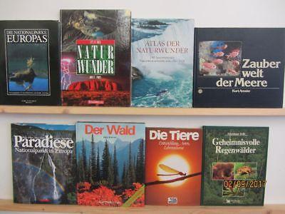 20 Bücher Bildbände Natur Umwelt Umweltschutz Naturparadiese Naturoasen Paket 1