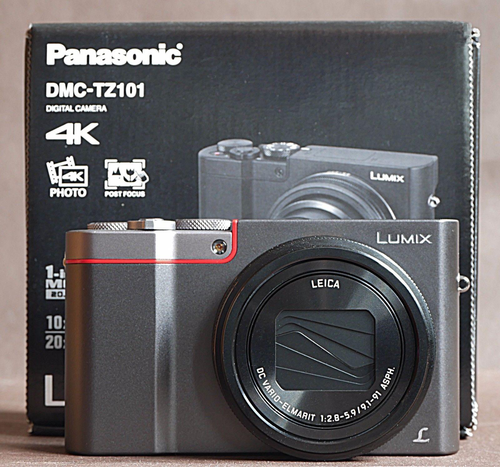 Panasonic DMC-TZ101 EGS, Digitalkamera, silber, Ovp. wie neu,nur 480 Auslösungen