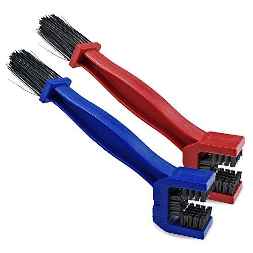 PsmGoods® Ketten Kurbeln Reiniger Reinigungsbürste Bike Tool für Fahrrad-Motorrad-Fahrrad-Radfahren Set von 2 (Blue & Red)