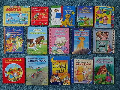 Bücherpaket 36 Kinderbücher Papp-Bilderbücher für kleine Kinder  Disney Duden
