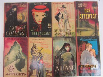 147 Bücher Taschenbücher rororo Verlag bis Seriennummer 8000