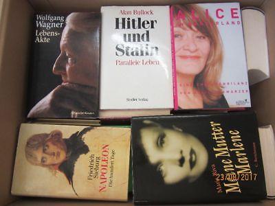 35 Bücher Biografie Biographie Memoiren Autobiografie Lebenserinnerung Paket 1