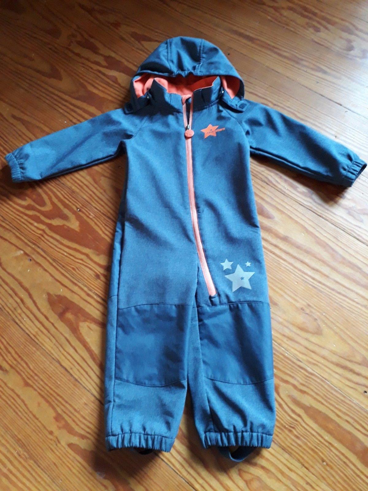Tchibo TCM Softshellanzug Gr.86/92 unisex blau-grau Mädchen Jungen Overall