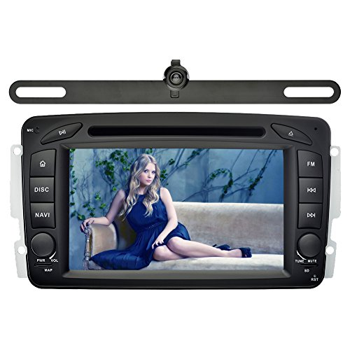 YINUO 7 Zoll 2 Din Touchscreen In Dash Autoradio Moniceiver DVD Player GPS Navigation mit kapazitivem Bildschirm 1080P OEM Stecker Canbus für Mercedes-Benz C class W203(2000-2005) / Mercedes-Benz Clk -C209 / W209(1998-2004.5) / Mercedes-Benz Viano/Vito W6