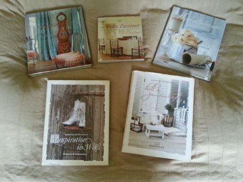 5 Shabby Einrichtungsbücher,Konvolut,Schweden,Bücher,Buch,Einrichten,Möbel