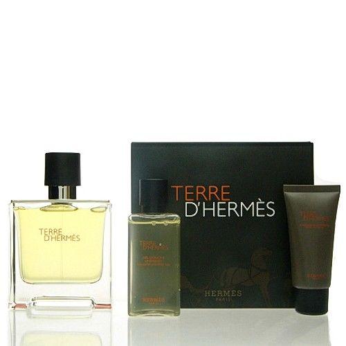 Hermes Terre D Hermes SET  Pure Parfum 75 ml + DG 40 ml + AS 15 ml NEU OVP