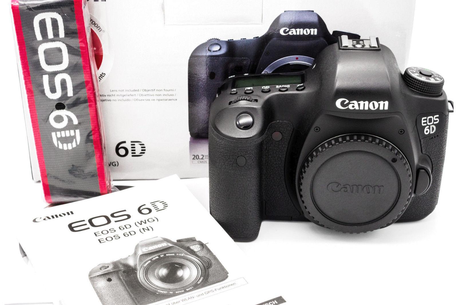 Canon EOS 6D SLR-Digitalkamera - Schwarz (Nur Gehäuse)