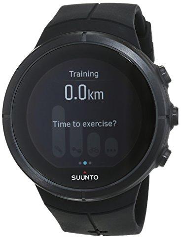 Suunto, Spartan Ultra Black Titanium HR Unisex GPS-Uhr für Multisport-Athleten, 26 Std. Akkulaufzeit, Wasserdicht, Herzfrequenzmesser + Brustgurt, Farb-Touchscreen, Schwarz, Saphirkristallglas, Titan-Lünette, SS022654000