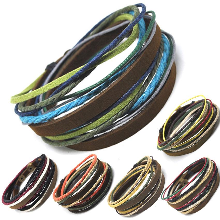 axy® TIBET STYLE! Wickelarmband Leder Armband!Surferarmband Leather Bracelet