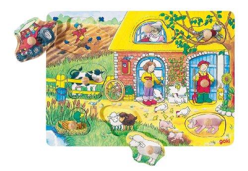 Goki 57805 - Hintergrundbildpuzzle - Bauernhof